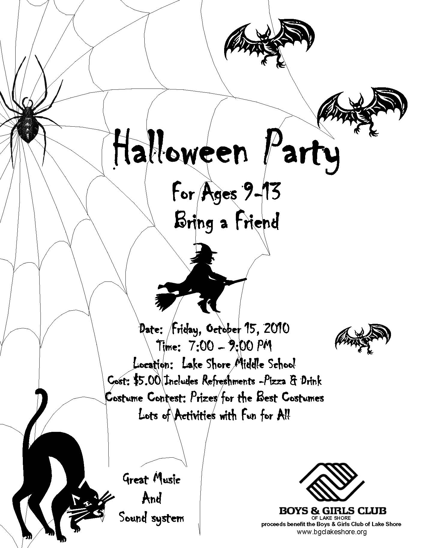 BGCLS Hosting Halloween Party for Kids | Boys & Girls Club of Lake ...