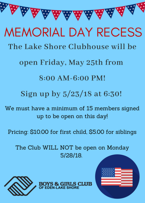 Memorial Day UPDATED